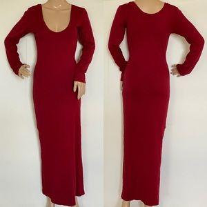 American Apparel Cranberry Maxi Dress